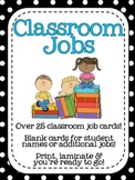 Classroom Jobs Card Set