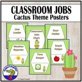 Classroom Jobs Cards Cactus Theme