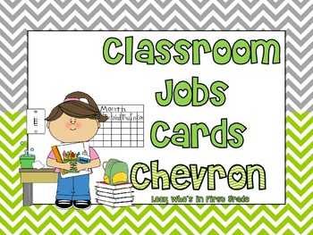 Classroom Jobs Cards--Chevron