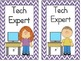 Classroom Jobs Cards--Chevron