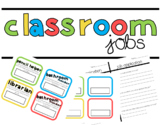 Classroom Jobs Cards and Application