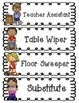 Classroom Jobs Cards for Bulletin Boards