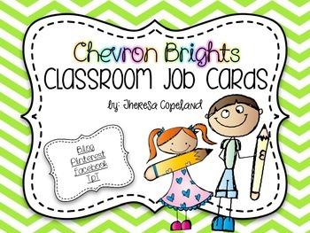 Classroom Job Cards {Chevron Brights}