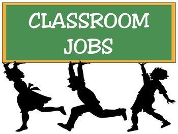 Classroom Jobs - Chalkboard