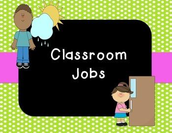 Classroom Jobs (Polka Dot & Chalkboard)