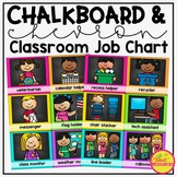 Classroom Job Chart in a Chalkboard and Chevron Decor Theme