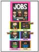 Classroom Job Chart in a Chalkboard and Chevron Decor Theme