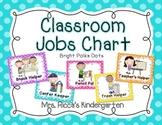 Classroom Jobs Chart (Bright Polka Dots)