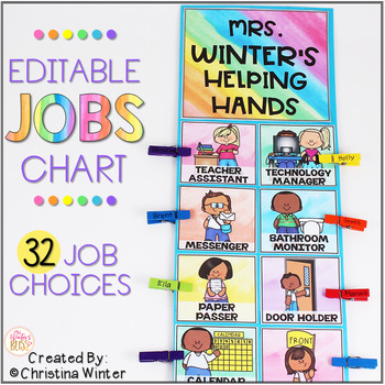 Classroom Jobs Chart EDITABLE