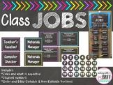 Classroom Jobs Chart (Editable) Chalkboard and Brights