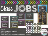 Classroom Jobs Chart (Editable) Chalkboard and Brights