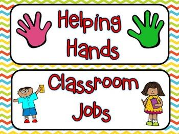 Classroom Jobs -- Chevron (**EDITABLE)