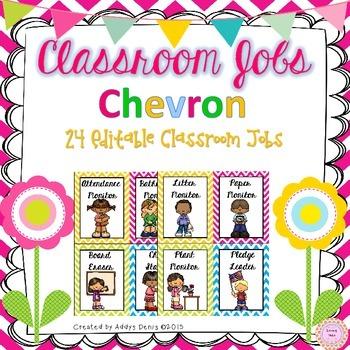Classroom Jobs Chevron EDITABLE