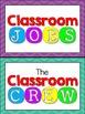 Classroom Jobs Display - Chevron