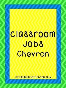Classroom Jobs Chevron Cards Printable