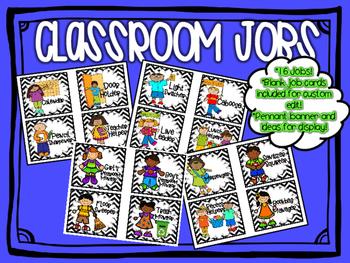 Classroom Jobs ~ Chevron Themed {16 Jobs}