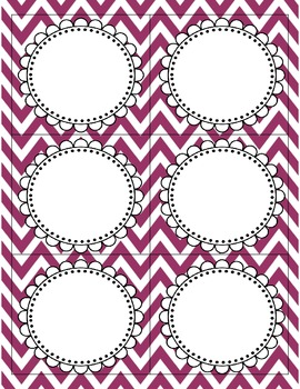 Classroom Jobs (Chevron with chalk letter)