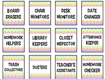 Classroom Jobs & Class Schedule Cards for Middle School {EDITABLE}