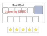 Behavior Chart Reward chart visual aid special education a