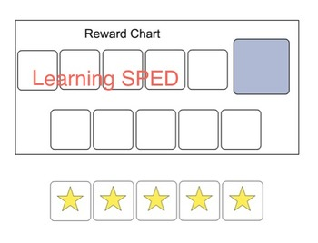 Behavior Chart Reward chart visual aid special education a
