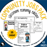 Community Jobs for the Classroom - Classroom Economy Edition