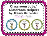 Classroom Jobs/ Classroom Helpers Scalloped Border