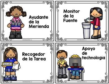 Classroom Jobs Spanish Version