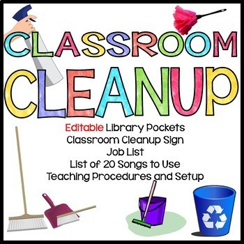 Classroom Jobs Clean Up Bulletin Board Sign Procedures