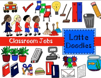 Classroom Jobs Clip Art {Commercial Use Included}
