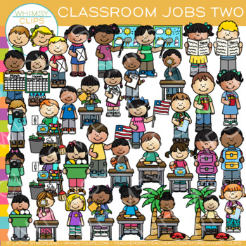 Classroom Jobs Clip Art - Set Two