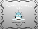 Classroom Jobs Clip Chart Penguin Theme