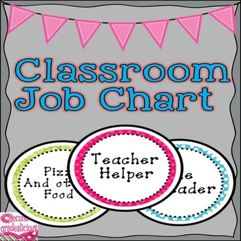 Cheetah Print and Polka Dots Classroom Decor Jobs Chart