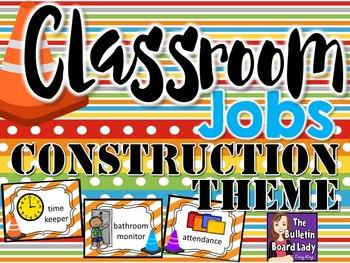 Classroom Jobs Construction Theme