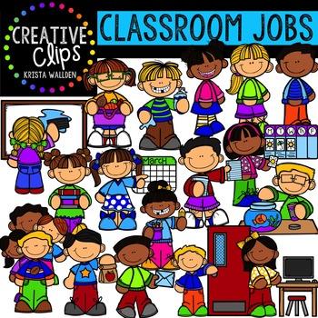 Classroom Jobs {Creative Clips Digital Clipart}