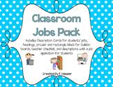 Classroom Jobs Pack