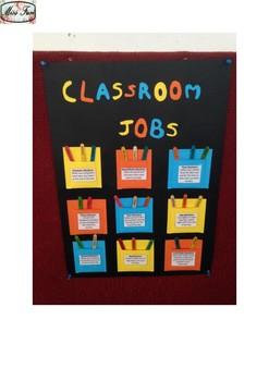 Classroom Jobs - Descriptions