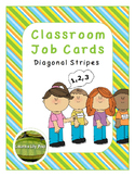 Classroom Jobs Diagonal Stripes