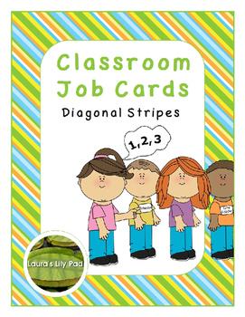 Classroom Jobs Diagonal Stripes