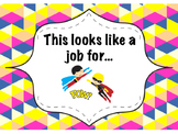 Classroom Jobs Display FREEBIE - Superhero Themed