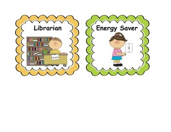 Classroom Jobs Display Cards
