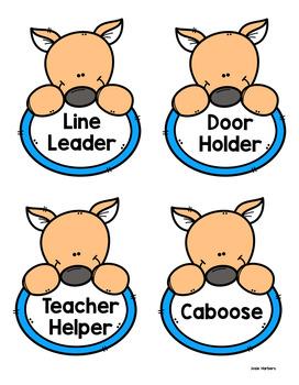 Classroom Jobs Display-Kangaroos