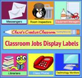 Classroom Jobs Display Labels