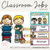 Classroom Jobs Display | Editable {Rainbow Classroom Decor}