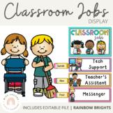 Classroom Jobs Display {Rainbow Classroom Decor}