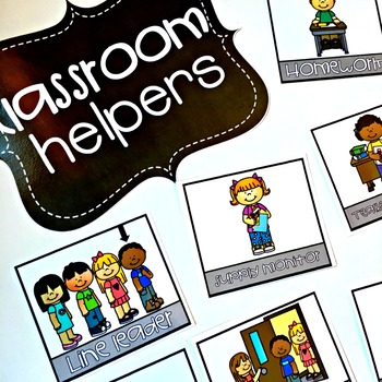 Classroom Jobs {EDITABLE}
