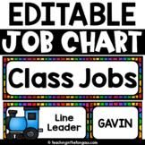 Classroom Jobs Editable | Class Jobs