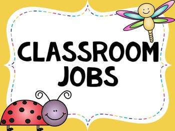 Classroom Jobs- EDITABLE- Insect