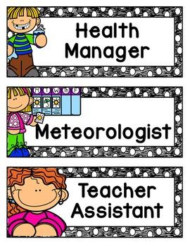 Classroom Jobs {Editable!}