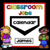 Classroom Jobs Editable Black and White