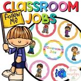 Classroom Jobs Editable {Color Pop Theme}